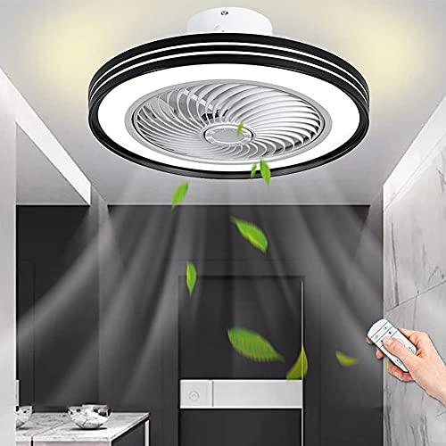 Ventilador De Techo Con Iluminación LED Regulable Control Remoto Luz De Techo Con Ventilador Moderna Lámpara De Techo Comedor Habitación De Niños Dormitorio Sala De Estar Oficina Luz De Ventilador