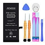 JEMESI New 2300mAh Battery for iPhone 7, Ultra High Capacity Internal Battery Replacement Kit, with Professional Repair Tool and Instructions-1 Year Warranty
