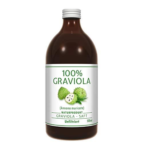 100% SUCCO DI GRAVIOLA - non filtrato e vegano - 500 ml. Prodotto al con purea di 100% Graviola. Guanabana. Corossol. Soursop. Stachelannone.