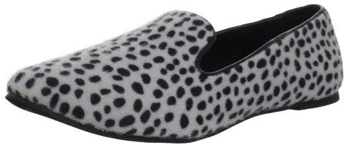 BootsiTootsi Damen Leopard Smoking, Silber, 39 EU