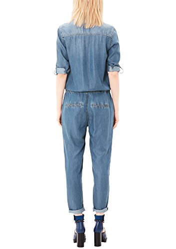 s.Oliver Damen Jumpsuit, Blau (Blue Denim Stretch) - 2
