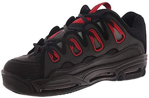 Osiris Men's D3 2001 Skate Shoe, Black/Red/Fade, 5.5 M US