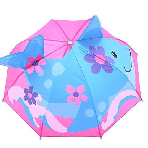 Sombrilla de bebé para protección solar y lluvia, rayos UV, 3D, diseño de dibujos animados al aire libre, resistente al viento, paraguas plegable a la lluvia a prueba de viento - C, a1