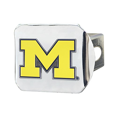 FANMATS NCAA Michigan Wolverines University of Michigancolor Hitch - Chrome, Team Color, One Size