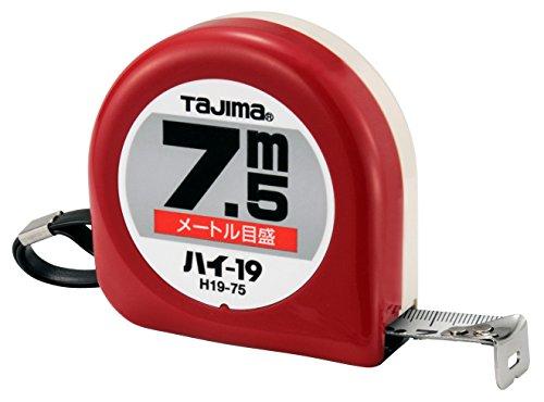 タジマ(Tajima) コンベックス 7.5m×19mm ハイ19(紙箱入) H19-75