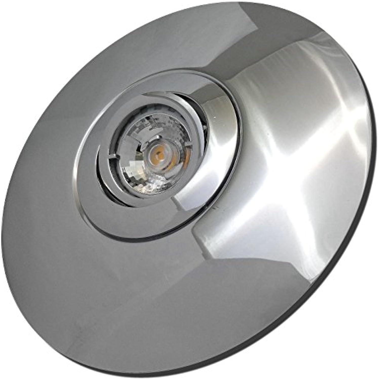 3 Stück MCOB LED Einbaustrahler Big Laura 230 Volt 3 Watt Schwenkbar Chrom Neutralwei