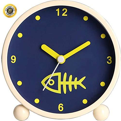 HSJLH Fishbone Retro-Uhr Mute Europäische Retro Schreibtisch Uhr tickt Nicht Quarz batteriebetriebenes für EIN Wohnzimmer Heimtextilien