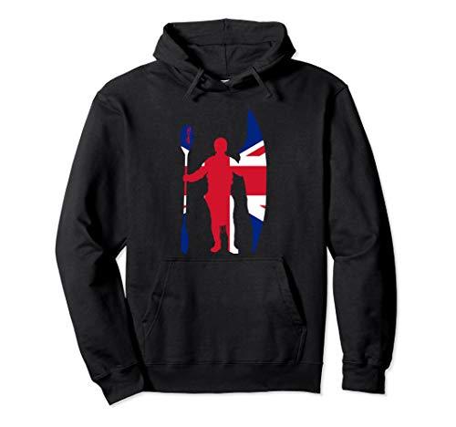 Kanu, Kajak, Kanadier und Paddeln,Fly the flag Pullover Hoodie