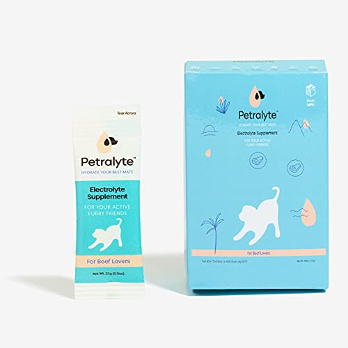 Petralyte Electrolyte Supplement for Dogs, for Beef Lovers, 16-Pack