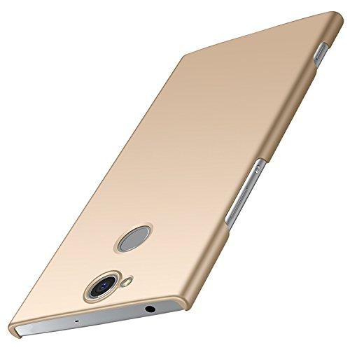 anccer Sony Xperia XA2 Plus Hülle, [Serie Matte] Elastische Schockabsorption & Ultra Thin Design für Sony XA2 Plus (Nicht für Sony XA2) (Glattes Gold)