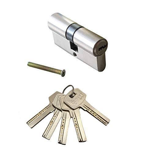 Profi 70mm (35/35) Zylinderschloss | Schliesszylinder | Türschloss | Haustürschloss | Einbauschloss inkl. 5x Bohrmuldenschlüssel
