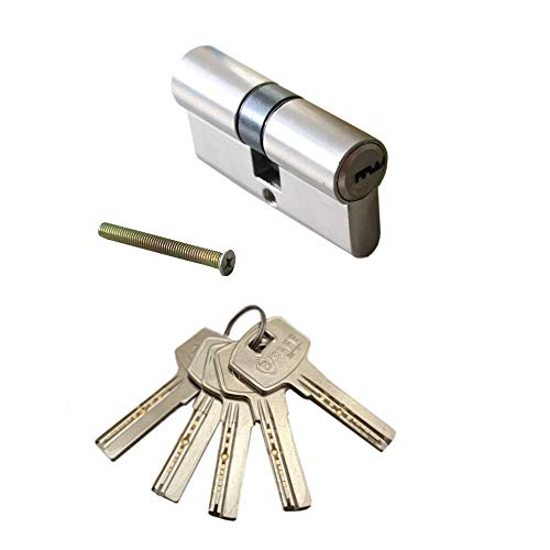 Tür 70mm Zylinderschloss, Schliesszylinder, Türschloss, Einbauschloss, Profizylinderschloss, Haustürschloss mit 5 Schlüsseln