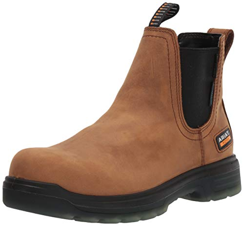 ARIAT mens Turbo Chelsea H2o Carbon Toe Work Boot, Aged Bark, 9.5 US