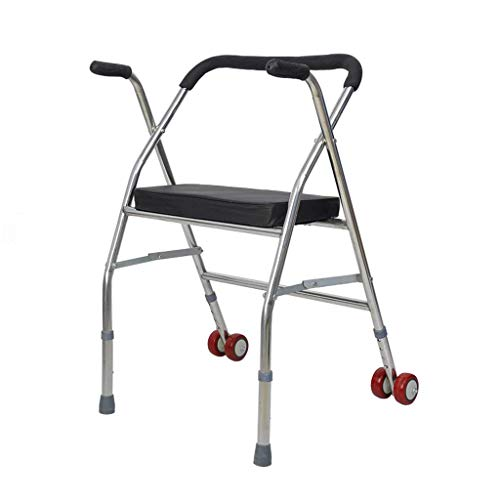 Z-SEAT 2-Rad-Gehhilfe mit Sitz - Leichtes Zusammenklappen und höhenverstellbarer Gehhilfen für Erwachsene