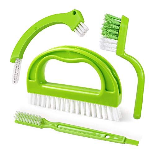 SUUER Cepillos para Lechada (4 en 1) Cepillo Limpiador de Azulejos, Limpiador de Juntas para Limpieza Profunda, BaaO, Cocina y Limpieza de Azulejos