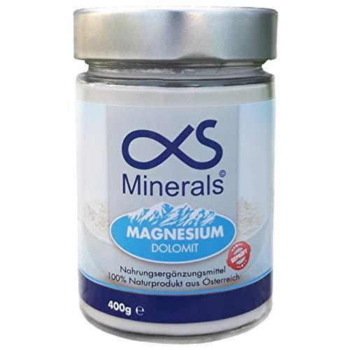 Magnesium Austria - 400 g Pulver. 375mg reines elementares Magnesium - Laborgeprüft, hochdosiert, Vegan, erstes natürliches Magnesium aus Österreich, perfekt für Muskeln und Körper