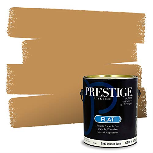 Prestige Paints Exterior Paint and Primer In One, 1-Gallon, Flat, Comparable Match of Sherwin Williams* Bosc Pear*