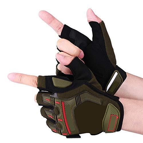 Motorhandschoenen 1 paar motorfiets motorcross fietsen racen rijden halve vinger beschermende handschoenen voor motorfietsen Auto Racing skaten klimmen Green L