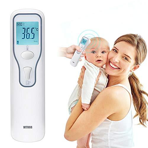 Bozitian - Termómetro electrónico para la frente con pantalla LCD para niños pequeños