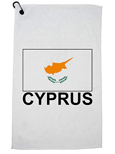 Hollywood Thread Cyprus Vlag - Speciale Vintage Edition Golf Handdoek met Karabijnhaak Clip