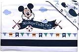 Juego de 3 sábanas con diseño de cochecito de bebé, de Disney, 100% algodón | juego de sábanas para cuna de bebé con funda de almohada | Sábanas para cuna de bebé (Minnie At Home)