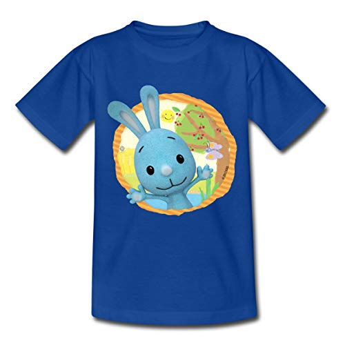 KiKANiNCHEN Kaninchen Sommertag Am See Kinder T-Shirt, 110-116, Royalblau