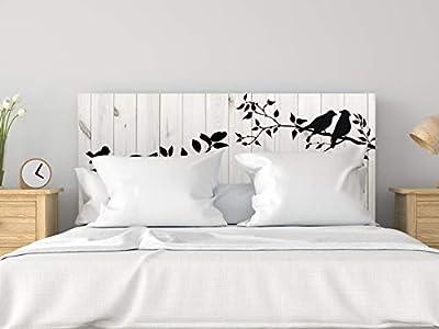 Cabecero fabricado en PVC de 5mm Cabecero de Cama impreso digitalmente en PVC Cabecero ecónomico ideal para decoración de habitaciones Medidas: 100 cm de largo x 100 cm de alto Fácil colocación, resistente, ligero, aislante y de larga durabilidad
