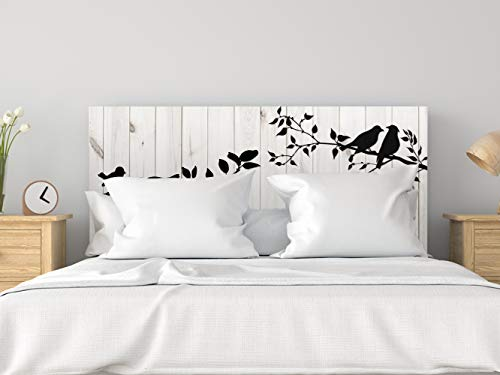 Cabecero Cama PVC Pájaros en Rama 135x60cm | Disponible en Varias Medidas | Cabecero Ligero, Elegante, Resistente y Económico