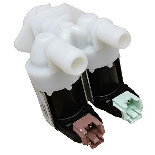 Marel Shop - Elettrovalvola 2 vie 180°per lavatrice compatibile con Electrolux Zanussi Rex