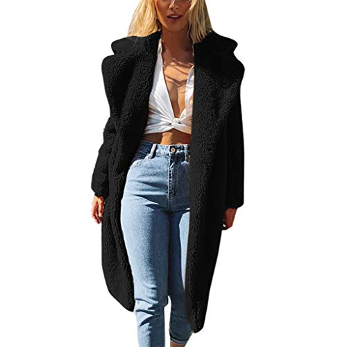 Great Features Of Pumsun Womens Winter Warm Plush Long Coat Jacket Solid Color Lapel Parka Outerwear...