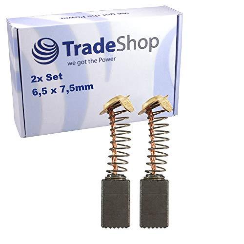 2x Kohlebürsten für Hitachi Elektro-Werkzeuge wie Bohrmaschine Bohrhammer Meißelhammer Poliermaschine Heckenschere Hobel Fräse/Motorkohlen 6,5x7,5