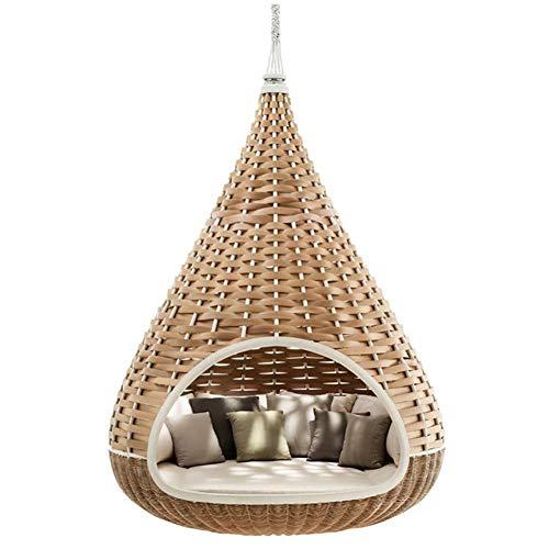 ZHANGLE Hängematte Schaukel handgemachtes Freizeitbett Holiday Villa Outdoor Lounge Stuhl Bequeme Hängematte geeignet für Terrasse, Veranda, Garten und Garten