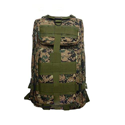 camouflage extérieur ventilateurs militaires sac à dos de randonnée sac à bandoulière 3P tactique Sac à dos
