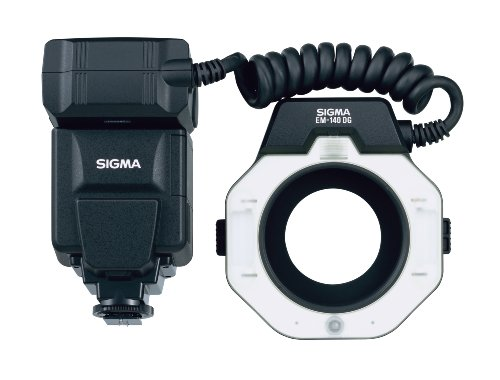Sigma EM-140 DG Macro - Flash (430g, 126,6 x 128,8 x 30,5 mm, AA, Negro)