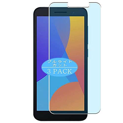 VacFun 3 Piezas Filtro Luz Azul Protector de Pantalla, compatible con Alcatel 1 2021, Screen Protector (Not Cristal Templado Funda Carcasa)