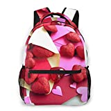LNLN Mochila Casual para niñas Heart Shaped Red Beads Laptop Backpack School Backpack for Men Women Lightweight Travel Casual Durable Daily Daypack College Student Rucksack 11 5in X 8in X 16in