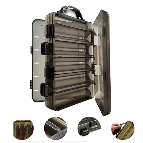 AGOOL タックルボックス ルアーケース エギホルダー ルアー収納 エギ収納 エギ入れ 半透明 10本収納 乾燥穴付き リバーシブル