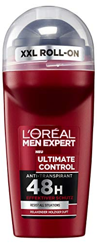 L 'Oréal Men expert Desodorante Roll On Ultimate Control, pack de 6 (6 x 50 ml)