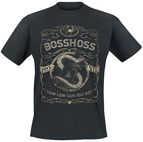 The Bosshoss How Low Can You Go Männer T-Shirt schwarz L 100% Baumwolle Band-Merch, Bands