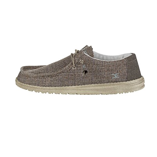 Hey Dude Wally Woven Tan Men's Shoes, Size 9 M US