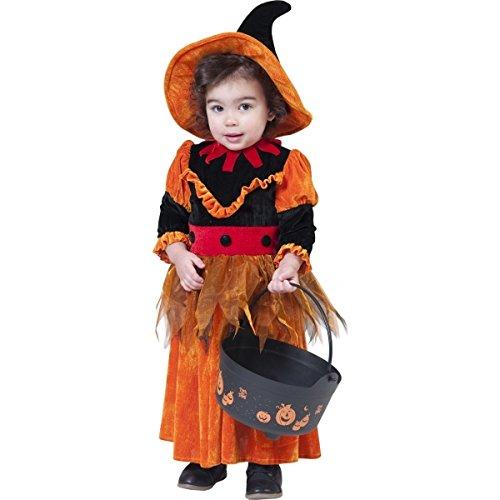 Generique - Déguisement Sorcière Orange Fille Halloween