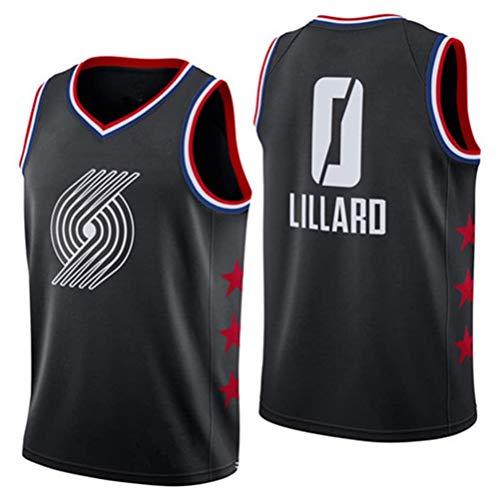 Rencai Damian Lillard # Camiseta de Baloncesto de Calidad Multi-Estilo Nueva Tela Gran 0 Trail Blazers de Portland (Color : 5, Size : XS)