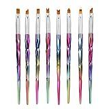 8 piezas de pinceles para uñas, pétalos de francés, diseño de uñas, manicura, pintura de...