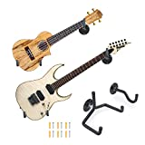 Electric Guitar Wall Hanger Ukulele Wall Mount Slatwall Horizontal Hawaiian Guitar Holder Bass Stand Rack