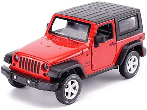 Modelo de pasajeros de coches Jeep Wrangler Rubicon Off-road del vehículo SUV1, 32 de simulación de fundición a presión de aleación de luz y sonido de coches de juguete coche de la simulación (en colo