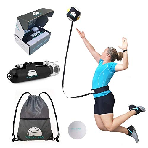 Volley Pro Trainer kit - Practice Serve, Spike and Setter with Access to a Pro Coach - Ultimate Volleyball Hitting Trainer - Volleyball Training Equipment - Training aids for Girls, Boys, Men & Women