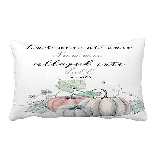 jieGorge Halloween Pillows Cover Sofa Waist Throw Cushion Home Decor Rectangle , Pillow Case for Halloween Day (A)