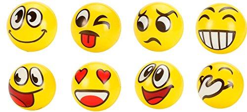 Pelota Pequeña de EMOTICONOS 10 CM de Goma. Juguetes, regalos divertidos y originales prácticos para Niños, Niñas y todas las edades. Regalos Baratos Invitados para Comuniones, bodas, Cumpleaños