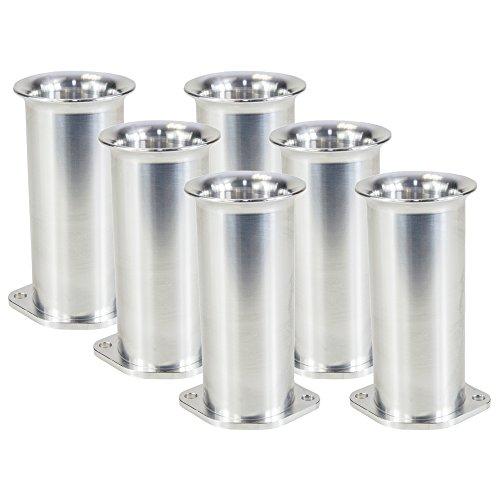 Ramair Filters BOT-40-125-6PK Weber DCOE 40 mm Bolt on Velocity Stack Carb Trumpet, 125 mm, Set of 6