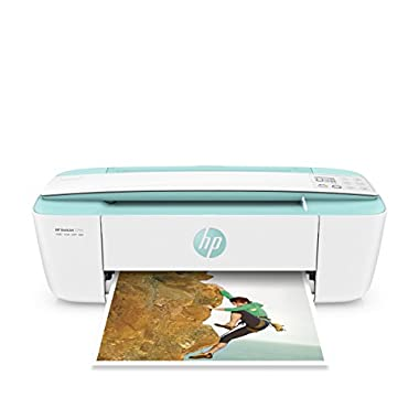HP DeskJet 3755 Compact All-in-One Wireless Printer with Mobile Printing, HP Instant Ink & Amazon Dash Replenishment ready - Seagrass Accent (J9V92A)